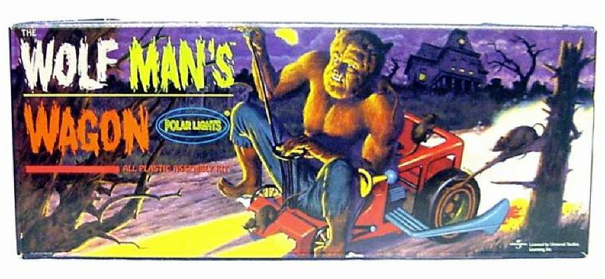 Thumbnail of Aurora Polar Lights WOLF MAN'S WAGON reissue classic model kit