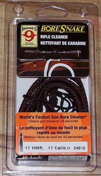 Hoppe's bore snake FOR .17 RIFLES!  The easy way to clean your .17m2 or .17hmr