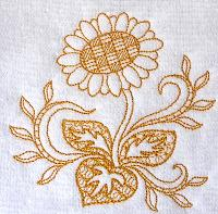 Thumbnail of Sunflower Toile towel
