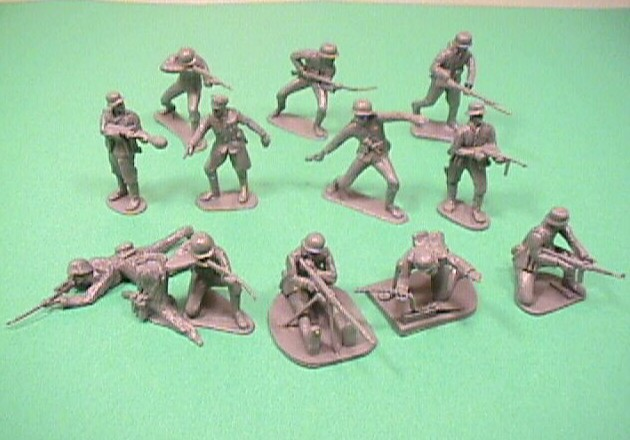 CTS 1/32nd Scale World War II German Plastic Soldiers Set