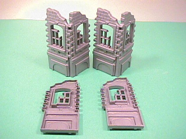 Battlefield Plastic 6 Piece Set Of Tall Building Ruins