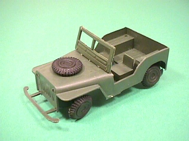 Thumbnail of Willys Style Green Plastic Army Jeep #3