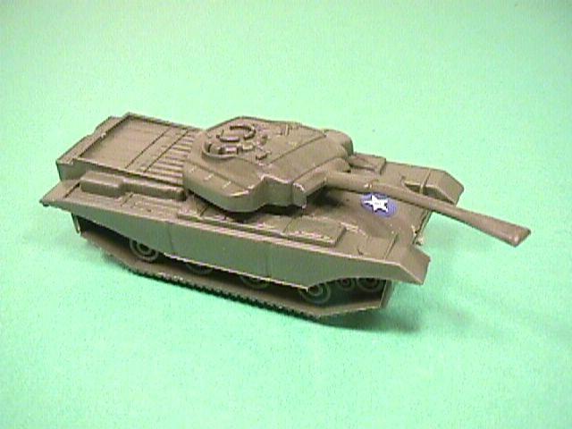 Green Plastic Centurion Style British Army Tank
