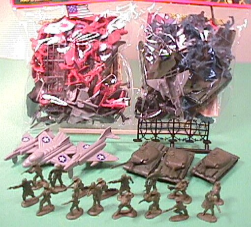 Army Battle 1 Inch Plastic Soldiers Over 450 Pc Set