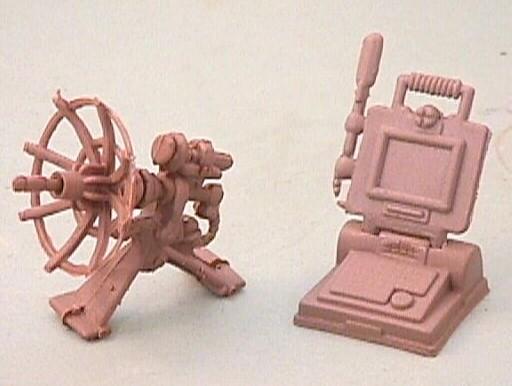 Battlefield Plastic Computer And Unlink Satellite Dish