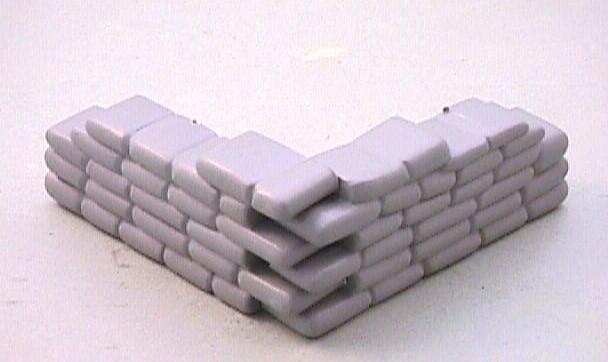 Grey Plastic 2 Piece Interlocking Sandbag Position