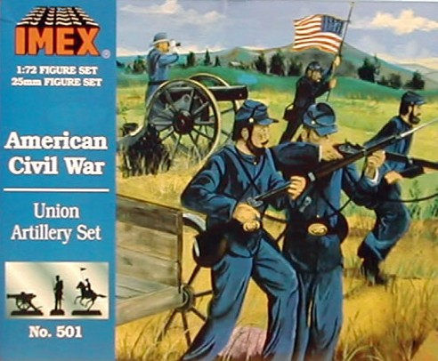 Imex 1/72nd ACW Confederate Artillery Plastic Figures Set No. 502