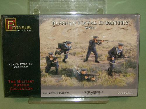 Pegasus 1/32nd Scale Russian WWII Naval Infantry Plastic Soldiers Set