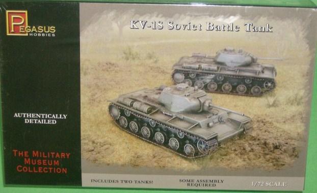 Pegasus 1/72nd Scale WWII Russian KV-1S Battle Tank Model Kit