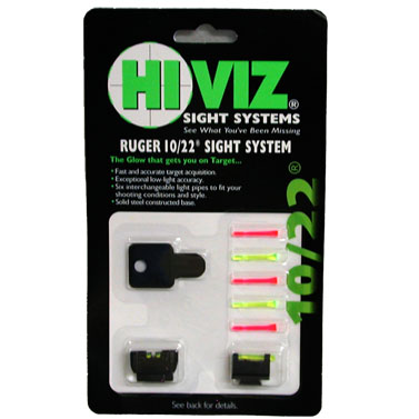 HIVIZ 10/22 fiber optic sights - Front and rear combo sights