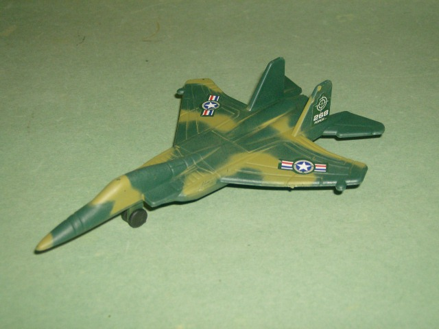 Camo Green Plastic HO Jet Fighter Airplane
