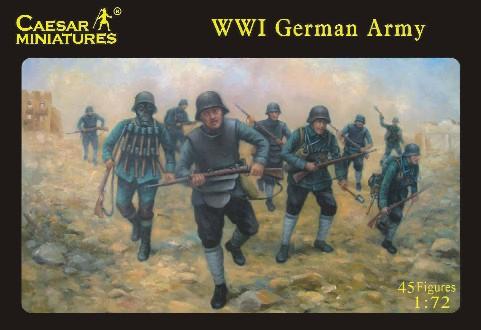 Caesar 1/72nd WWI German Army Plastic Soldiers Set
