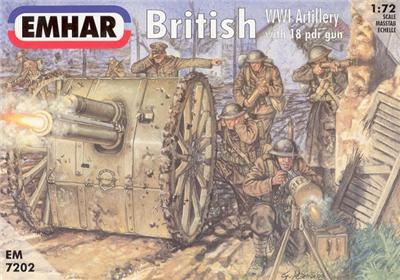 Emhar 1/72nd WWI British Artillery Plastic Soldiers Set 7202