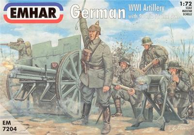 Emhar 1/72nd WWI German Artillery Plastic Soldiers Set 7204