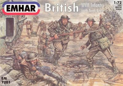 Emhar 1/72nd WWI British Infantry Plastic Soldiers Set 7201