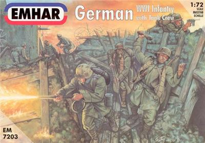 Emhar 1/72nd WWI German Infantry Plastic Soldiers Set 7203