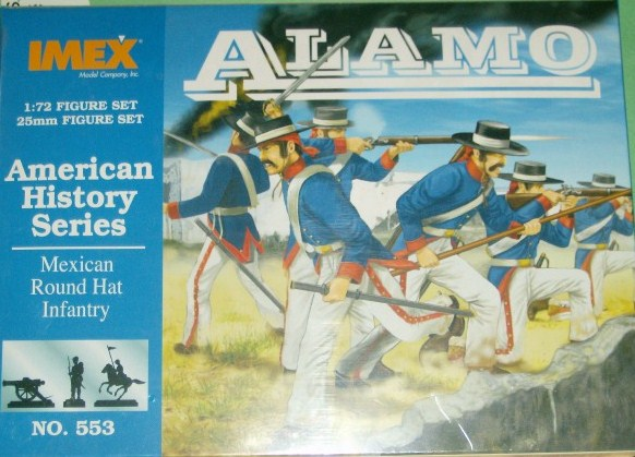 Imex 1/72 Alamo Mexican Round Hat Infantry Plastic Figures Set No. 553