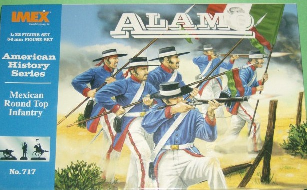 Imex 1/32 Alamo Mexican Round Hat Infantry Plastic Figures Set No. 717