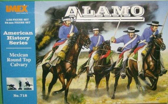 Imex 1/32 Alamo Mexican Round Top Cavalry Plastic Figures Set No. 718