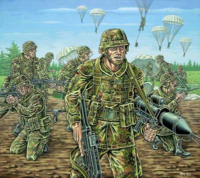 Revell 1/72nd Scale Modern German Paratroopers Plastic Soldiers Set