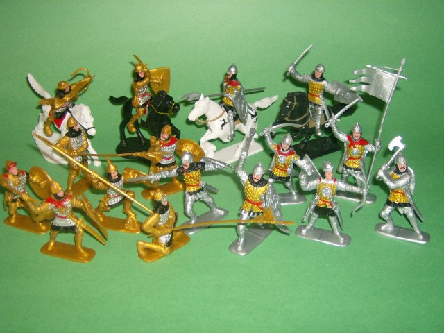 Thumbnail of Medieval Russian Knights Plastic Figures Set No. 37