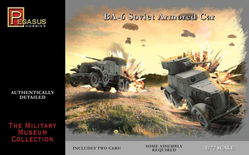 Pegasus 1/72nd Scale WWII Russian BA-6 Armored Car Model Kit