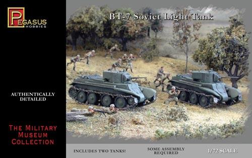 Pegasus 1/72nd Scale WWII Russian BT-7 Light Tank Model Kit
