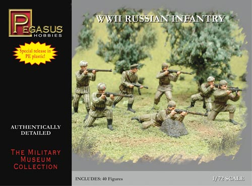 Pegasus 1/72nd WWII Russian Naval Infantry Plastic Soldiers Set