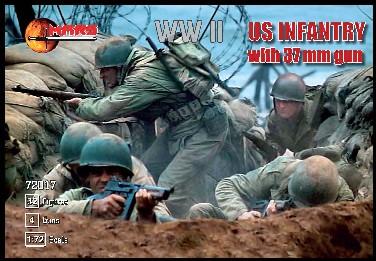 MARS World War II 1/72nd US Infantry Group Plastic Soldiers Set