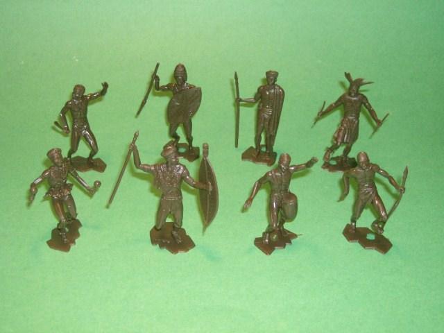 MPC Recast Plastic African Native Warriors 50 Figure Set