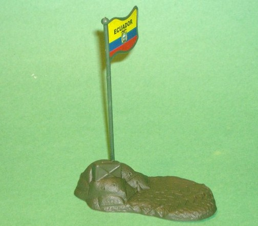 Sandbag Green Plastic Base Piece With Flag