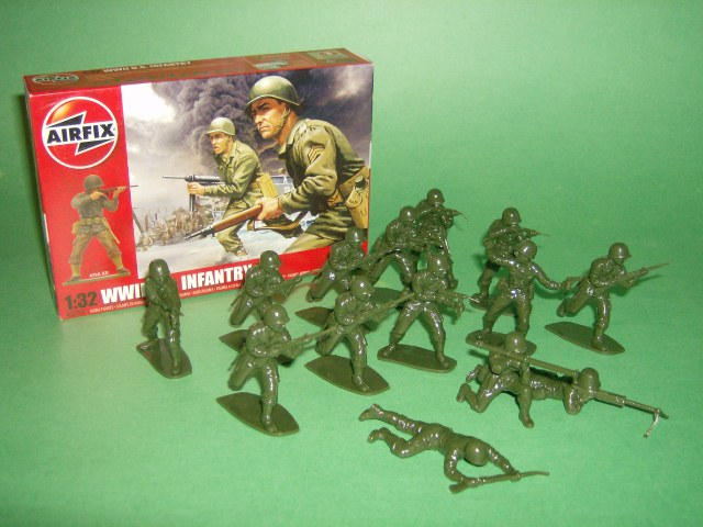 1/32nd Scale Airfix WWII U.S. Infantry Plastic Soldiers Set