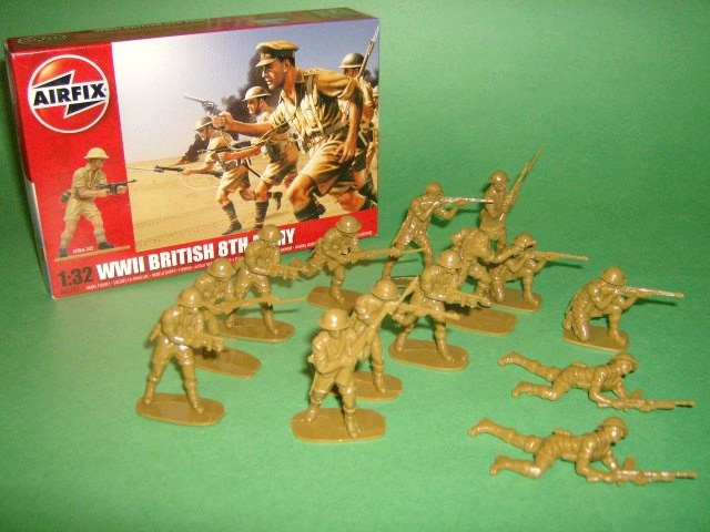 1/32nd Scale Airfix WWII British 8th Army Plastic Soldiers Set