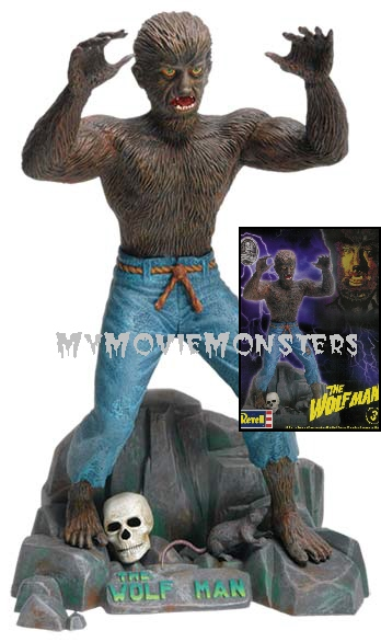 Thumbnail of Revell Universal Monsters WOLF MAN model kit Factory Sealed