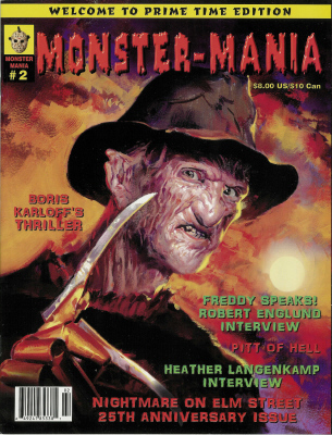 Thumbnail of Monster-Mania #2 Nightmare on Elm Street 25th Anniversary Issue - RARE!