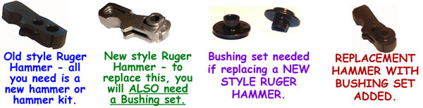 a) B-43 Bushings for NEW STYLE hammers.
