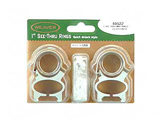 SEE-THRU RINGS FOR RUGER 10/22-SILVER-WEAVER brand rings