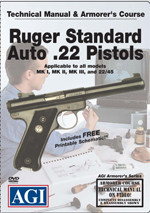 AGI GUNSMITHING DVD - Ruger mark series pistol armorer course video
