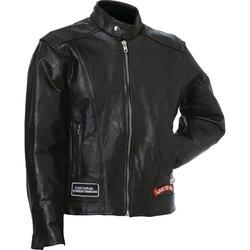 GFCRLTR- Diamond Plate, Rock Design Buffalo Leather Motorcycle Jacket