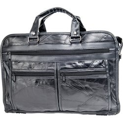 BCLBC  * Maxam Brand Italian Mosaic Design Genuine Leather Briefcase