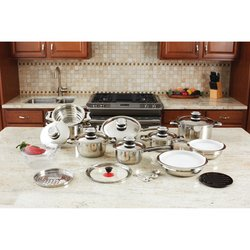 KT28  28pc 12-Element High-Quality, Heavy-Gauge Stainless Steel Cookware Set