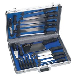 CTCASE21 - Slitzer™ 22pc Professional Chef's Cutlery Set in Case