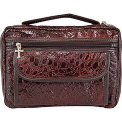 LULBIBLE3 Embassy™ Alligator-Embossed Genuine Leather Bible Cover