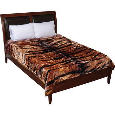 GFBLH3222 Wyndham House™ Tiger Print Heavy Luxury Blanket