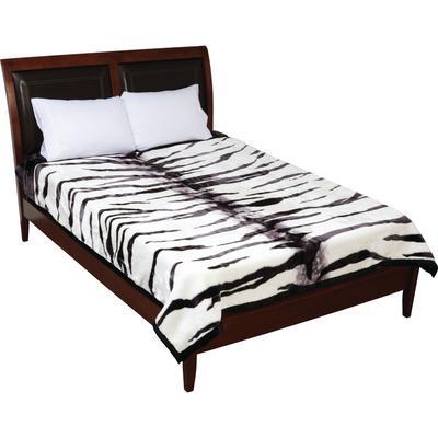 GFBLH3392 Wyndham House™ White Tiger Print Heavy Luxury Blanket