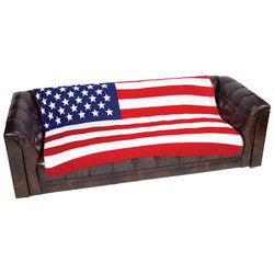 GFLGBLK      United States Flag Print Fleece Blanket