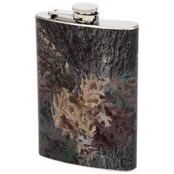 KTFLCAMO Maxam® 8oz Stainless Steel Flask with Camouflage Wrap