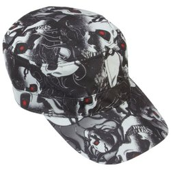 GFCAP3RS  Casual Outfitters™ Red Eye Skull Design Cap