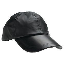 GFCAP2  Giovanni Navarre® Solid Genuine Leather Baseball Cap
