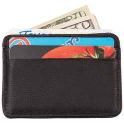 LULWAL22  Embassy™ Men's Solid Genuine Leather Front Pocket Wallet